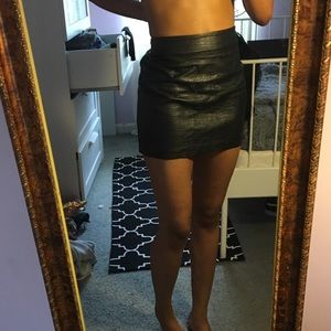Dresses & Skirts - Leather skirt